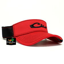 DRAKE WATERFOWL GAME DAY FITTED VISOR GEORGIA RED BLACK MEDIUM LARGE FLEX FIT