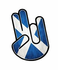 The SHOCKER Hand With Scotland Scottish Saltire Flag vinyl car sticker decal