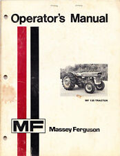 Massey Ferguson 135 Operators Manual MF owners operator