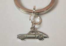 Key Ring with Sterling Silver Porsche Speedster Sports Car Charm Free Shipping