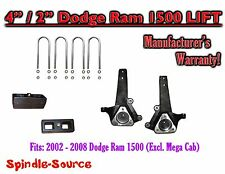 "2002 - 2008 Dodge Ram 1500 2WD 4"" Front 2"" Rear Spindle Block Lift Kit 02-08"