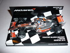 Minichamps F1 1/43 McLAREN MERCEDES 2010 SHOWCAR JENSON BUTTON LIMITED EDITION