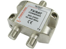 TV Satellite Combiner Adapter Splitter F plug split signal