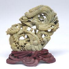 China, Stein- Skulptur, feine Arbeit, antik? ca. 15,5 x 17 cm,  中国雕塑石, 精细工作