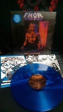 THOR - UNCHAINED LP Blue Vinyl Lightning Strikes War Hammer Rock The City MeTal