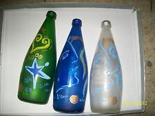 LOT 3 BOUTEILLE PERRIER VIDE PUBLICITE BOTTLE ADVERTISING 70CL EMPTY BOTTIGLIA