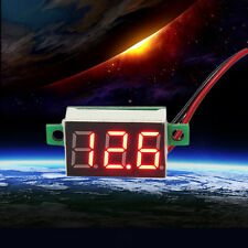 Mini Red LED Panel Voltage Meter 3-Digital Adjustment Voltmeter TOP  LJ
