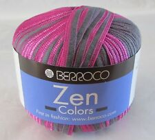 6 Skeins Berroco Zen Colors Ribbon Yarn 8025, Knit, Crochet Needle Crafts