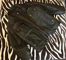 EUC SUPER STYLISH GAP KIDS BOY 100%  GENUINE BROWN  LEATHER JACKET S XS
