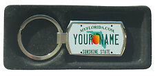 Personalized Custom Name Florida State License Plate Metal keychain