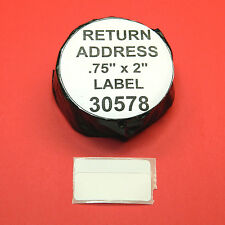 6000 RETURN ADDRESS / BARCODE LABELS fit DYMO 30578 - BPA Free