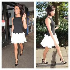 Forever Unique Buffy Black White 3D Flare Skater Tulle Skirt Lucy Meck Dress 10