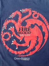 Game of Thrones Targaryen Fire & Blood Daenerys T Shirt Tee Dragon Blue Red