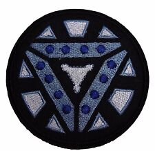 "Marvel's Iron Man Arc Reactor 3 1/2"" Logo Iron-on/Sew-on Embroidered PATCH"