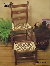 BOOK ONLY #7629 Furniture Fan-Fare II - Rare Macrame Chair & Foot Rest Patterns