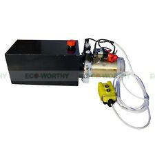 Double-acting Hydraulic Pump Power Supply Unit - 12V 10 Quart Metal Reservoir