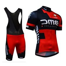 NEW TEAM BMC Short Sleeve Cycling Jersey With Bib Shorts