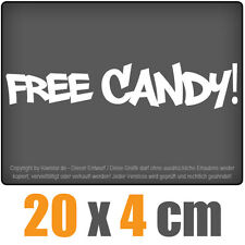Free Candy 20 x 4 cm JDM Decal Sticker Aufkleber Racing Die Cut
