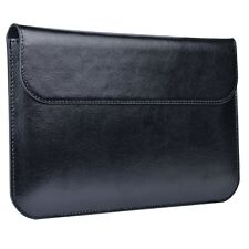 "7"" Tablet Leather Protective Folio Sleeve w/Kickstand & Magnetic Closure  Black"