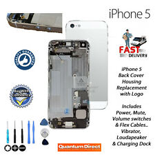 FOR iPhone 5 Complete Pre Assembled Back Cover Housing Replacement - WHITE