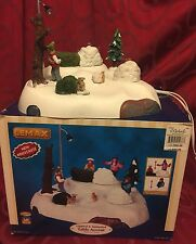LEMAX Village Collection HIDE AND SEEK Lighted & Animated Table Accent In Box