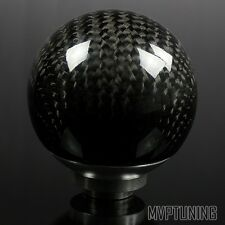 Ball Shaped Style Real Carbon Fiber Shift Knob w/ M8/M10/M12 Universal Adapter