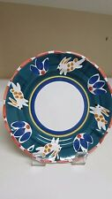"""Pottery Barn Pottery Rabbit 12"""" Chargers Dinner Pasta Plates Made In Mexico"""