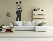 Banksy Kissing Cops Wall Sticker 60x180cm