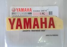 100% GENUINE YAMAHA 80mm x 18mm RED DECAL STICKER BADGE LOGO