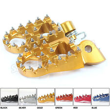 CNC Wide Fat Footpegs KTM SX EXC SXF EXC-F 125 200 250 300 350 450 520 525 Gold