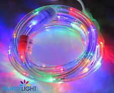 """LED Rope Light 9Ft 110V 120V 2-Wire 1/2"""" Multi Color Red Blue Yellow Green"""