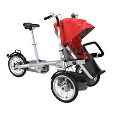 portable folding stroller two seat Umbrella parents child baby bike tricycle car