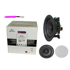 "1 pair of Q Install Pro 6.5"" In-Ceiling Speaker for SONOS + 30m QED 16/2 cable"