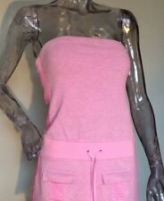 Juicy Couture Small Dress Swimsuit Bikini Cover Up Size P Pink Tube Strapless