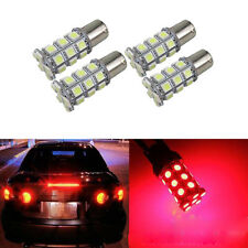 4 Pcs 1156 27SMD 5050 LED Super Bright Red Light BA15S Car Wedge Lamp Bulb 6000K