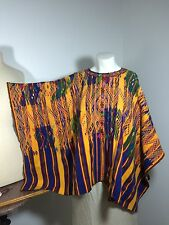 Vintage Huipil  Mexican Guatemalan Poncho  Flowers