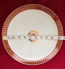 """4 pcs Chinese Longevity Porcelain Dinner Plate 10.5"""" In Red /Gold Foil (#CH10-4A"""