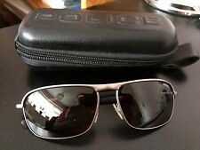 police sunglasses hardly worn gun metal strong frames dark lenses police case