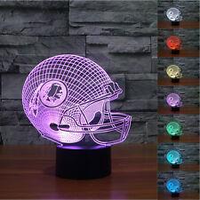 NFL Washington Redskins 3D Night Light 7 Color Change LED Table Lamp LIght Gift