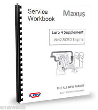 LDV Maxus Engine EURO 4 SUPPLEMENTARY INFO Service Manual - 2.5CDi ENGINE