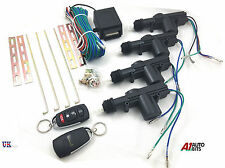 4 DOOR CAR CENTRAL LOCK LOCKING KEYLESS ENTRY KIT SYSTEM WITH 2 REMOTE FOBS
