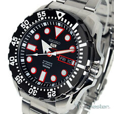 SEIKO 5 SPORTS AUTOMATIC DIVERS STYLE BLACK FACE SRP603K1 SRP603