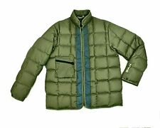 Nike Duck Down Quilted Puffer Jacket Med Olive Green Ski Snowboard Coat Parka