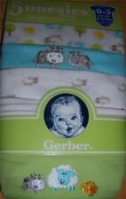 Gerber 5pk Short Sleeve Onesies, Baby Shower, 0-3 Months, Cow, Sheep, Chick
