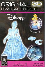 Bepuzzled Disney Princess CINDERELLA 3D Crystal Jigsaw Puzzle 41 Pc