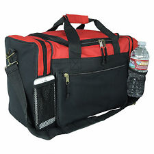 """17"""" Duffle Duffel Bag Sports Travel Workout Gym Pink Red Black Blue Gold Gray"""