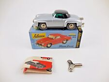 Schuco Micro Racer 1044 Mercedes 190 SL Silver Black Wind Up Car New in Box