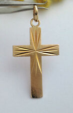 BELLISSIMA CROCE IN ORO GIALLO 18KT - 18KT SOLID YELLOW GOLD CROSS