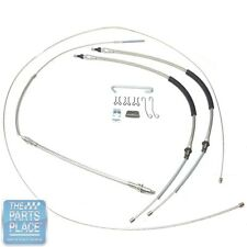 1968-72 Chevelle Full Parking Brake Cable Set T-350 / Powerglide / Manual Trans