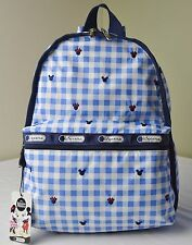 LeSportsac Disney Mickey Minnie Checks and Bows 7812 Basic Backpack